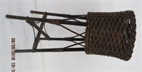 """Wicker plant stand 30.5""""H"""