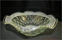 """Ruffled glass bowl 1.5"""" across 4""""H"""
