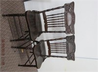 2 press back hip rest side chairs