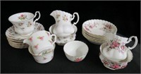 Rose decorated bone china, Royal Albert