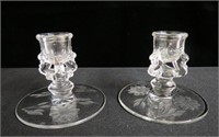 Pair of Cornflower candle holders