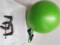 Push up bars, exercise ball and flex straps