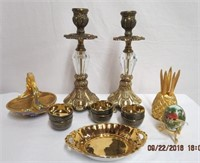 Sake cups, Spring egg basket, 22K gold handled