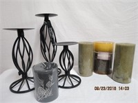 Candle stands and pillar candles