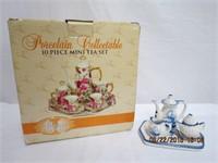 2 miniature tea sets
