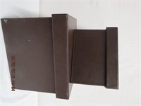 """2 leather like boxes11.75 X  9.25 X 9.5""""H"""