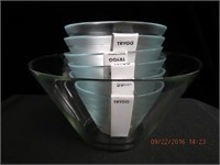 "TRYGG 10.5"" bowl and 6 - 7"" bowls"