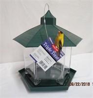 Triple treat new bird feeder
