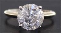 14kt Gold Round Brilliant 3.23 ct Diamond Ring