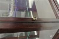 2 Shelf Octagon Display Cabinet