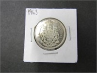 1963 Canadian Silver 50 Cent Coin