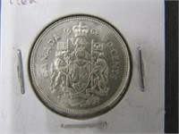 1962 Canadian Silver 50 Cent Coin
