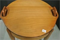 Lift Top Serving Table/Footstool Lot