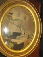 Oval Vintage Framed Artwork