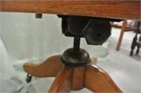 Swivel Oak Office Chair