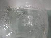 Etched Decanter Lot