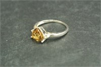 Sterling Silver Topaz Ring
