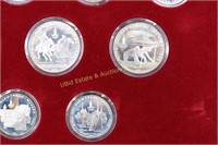 1980 OLYMPIC 28 SILVER COIN COLLECTION IN DISPLAY
