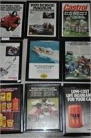Oil Car and Lawn Tractor Ads
