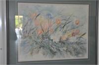 Floral Landscape Print