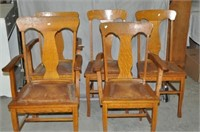 Set of Oak Dining Room Chairs