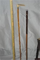Cane or Umbrella Stand and Canes