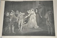 2 19th Century Shakespearian Prints