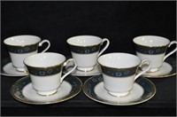 Royal Doulton Porcelain Cups and Saucers