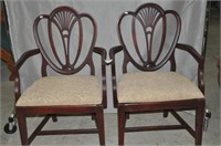 Pair of Shield Back Armchairs