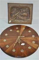 Plaque and Clock