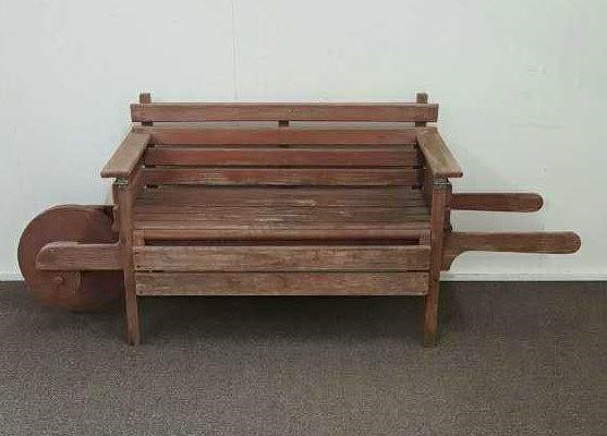 Cool Vintage Primitive Pine Garden Bench Wheelbarrow Asset Gmtry Best Dining Table And Chair Ideas Images Gmtryco