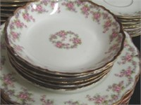 "Partial Limoges Luncheon Set ""Elite Works"""