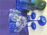 Blue Glass Lot