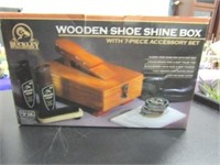 Wooden Shoe Shine Kit