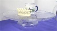 Flower Petal Cake Plate Lot
