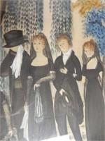 Antique Silk Embroidery Memorial Capt Samuel Jones