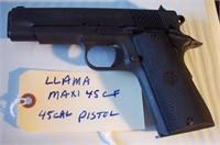 Llama Maxi 45 CF 45 Caliber Pistol