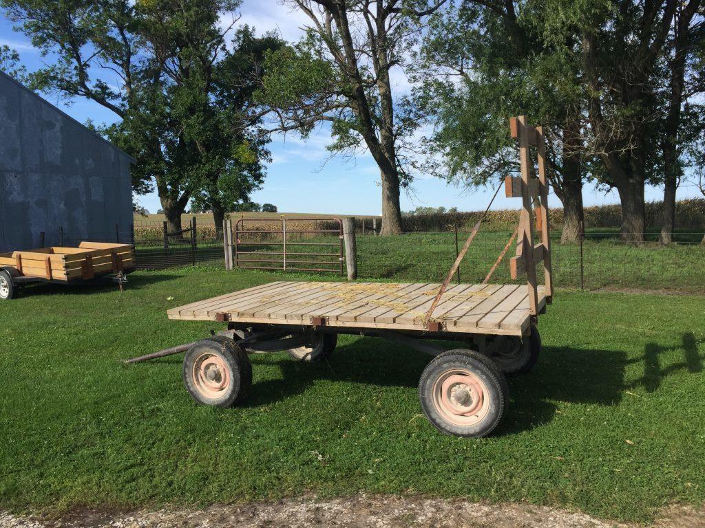 10' x 6' Hay Rack w/ back and w/ sides, new wood  | HiBid