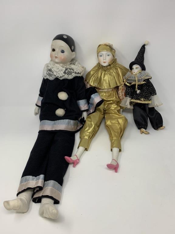 Vintage Porcelain Clown Dolls | Coughlin Estate Sales