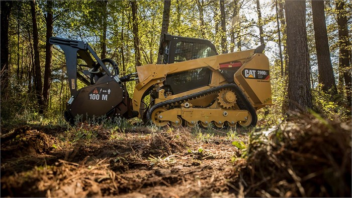Cat Highlights Its 299D2 XHP Land Management Track Skid