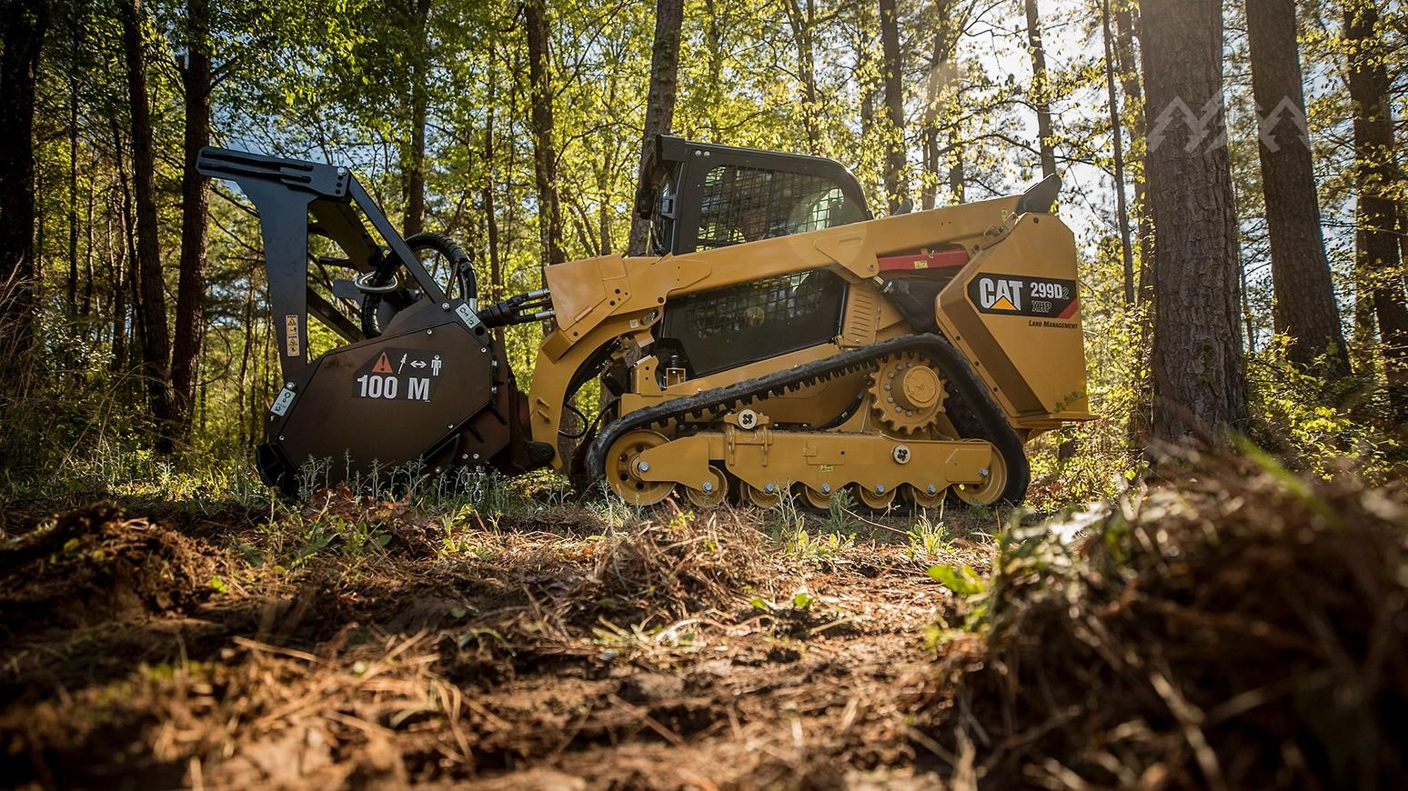 Cat Highlights Its 299D2 XHP Land Management Track Skid