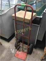 Red 2 Wheel Hand Cart - as is