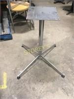 3 Chrome Table Bases - Like New