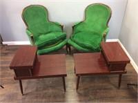 Mid Century Green Henredon Arm Chairs