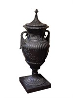 "Antique Monumental Bronze Urn 50"" High"