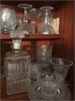 Lot of Fine Crystal and Liquor Decanter