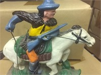 (10) Cast Iron Calvary Man Statues 10x times bid