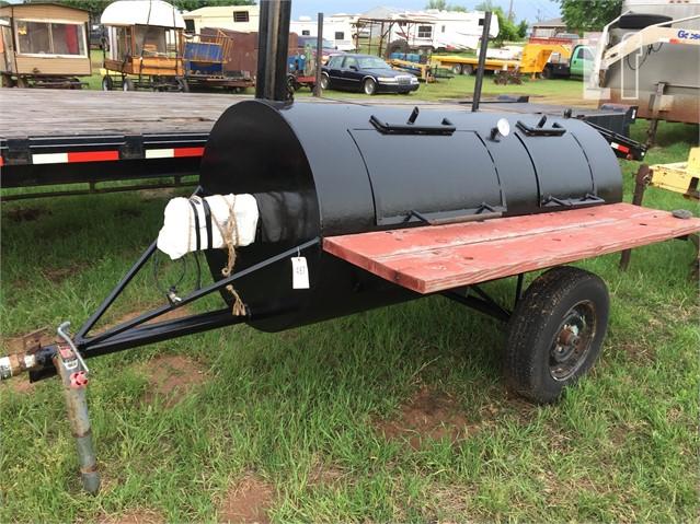 Lot # 487 - BUMPER PULL SMOKER W/ELECTRIC ROTISSERIE For Sale In MENO,  Oklahoma