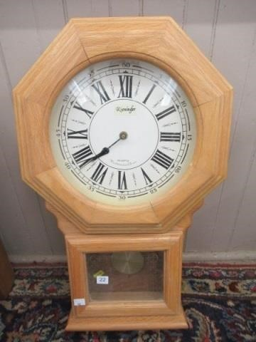 Quartz Westminster chime wall clock | SHACKELTON AUCTIONS INC