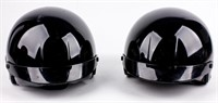 Lot of Harley-Davidson Helmets with Carrying Bags